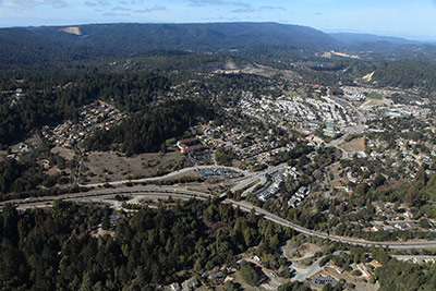 Aerial view of Scotts Valley
